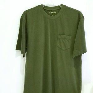Izod olive green tshirt